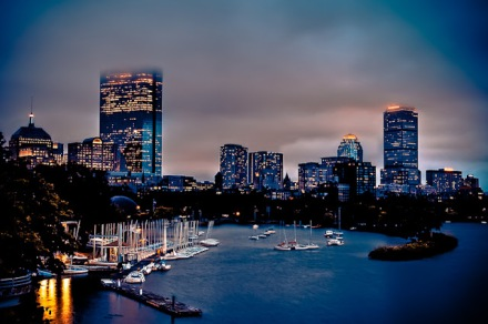 Foggy-Boston-Back-Bay-Skyline-at-Dusk